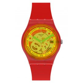 Swatch GR185 Ladies' Wristwatch Retro-Rosso Red