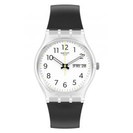 Swatch GE726 Unisex Wristwatch Rinse Repeat Black