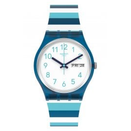 Swatch GN728 Unisex Wristwatch Striped Waves