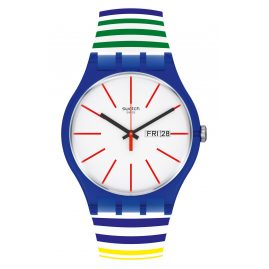 Swatch SUON715 Unisex Watch Home Stripe Home