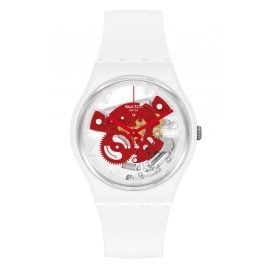 Swatch SO31W104 Wristwatch Time To Red Small