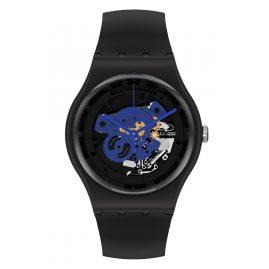 Swatch SO32B109 Armbanduhr Time To Blue Big