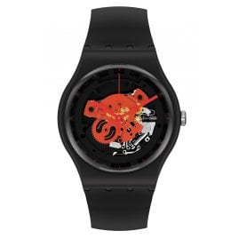 Swatch SO32B110 Armbanduhr Time To Red Big