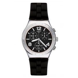 Swatch YCS116 Irony Chrono Mens Watch Noir De Bienne