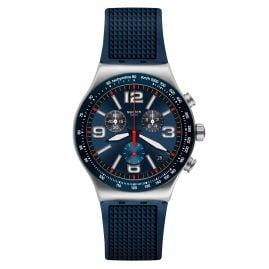 Swatch YVS454 Herrenuhr Chronograph Blue Grid