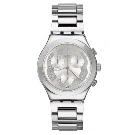 Swatch YCS604G Men's Wristwatch Chronograph Silver Ring