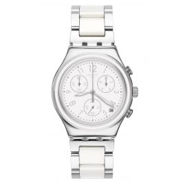 Swatch YCS603G Irony Damenuhr Chronograph Snowdream