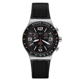 Swatch YVS461 Irony Herren-Chronograph Very Dark Grid