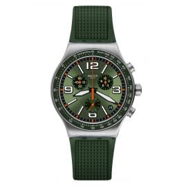 Swatch YVS462 Irony Herren-Chronograph Forest Grid