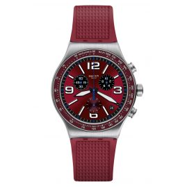 Swatch YVS464 Irony Herren-Chronograph Wine Grid