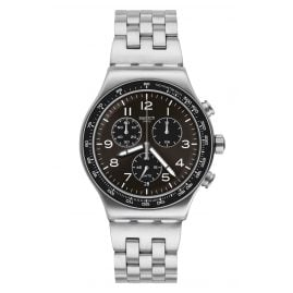 Swatch YVS465G Men's Watch Chronograph Deepgrey