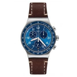 Swatch YVS466 Irony Herren-Chronograph Casual Blue