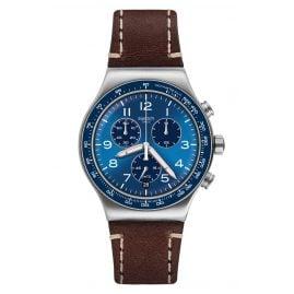 Swatch YVS466 Irony Herren-Chronograph Casual Blue
