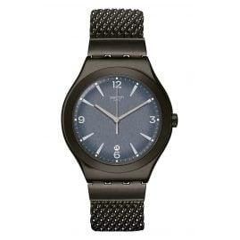 Swatch YWM403M Unisex-Armbanduhr Irony Mesh O´Light