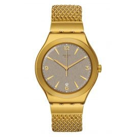 Swatch YWG409M Unisex Armbanduhr Irony Mesh O´Honey