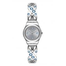 Swatch YSS332G Ladies' Wristwatch Silver Hug
