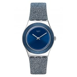 Swatch YLS221 Irony Women's Watch Blue Sparkle