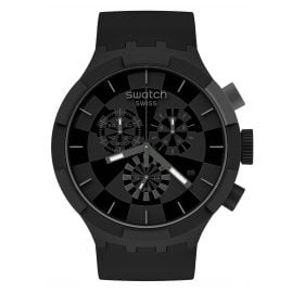 Swatch SB02B400 Big Bold Chrono Armbanduhr Checkpoint Black