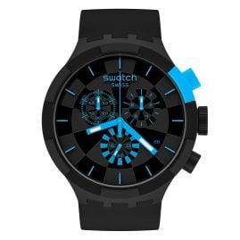 Swatch SB02B401 Big Bold Chrono Armbanduhr Checkpoint Blue