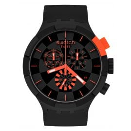 Swatch SB02B402 Big Bold Chrono Armbanduhr Checkpoint Red