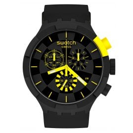 Swatch SB02B403 Big Bold Chrono Wristwatch Checkpoint Yellow