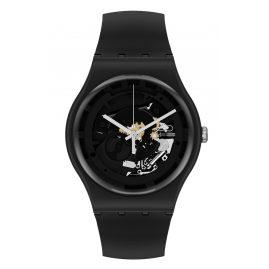 Swatch SO32B108 Herren-Armbanduhr Spot Time Black