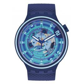 Swatch SB01N101 Big Bold Armbanduhr mit 2 Armbändern Second Home