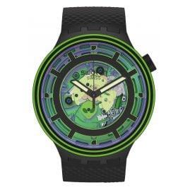 Swatch SB01B125 Big Bold Armbanduhr mit 2 Armbändern Come In Peace!