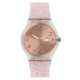 Swatch SUOK703 Pink Glistar Ladies Watch