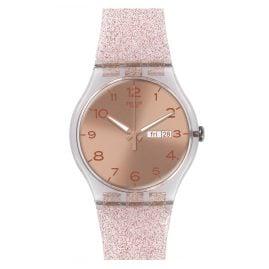 Swatch SUOK703 Pink Glistar Damenuhr