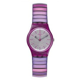 Swatch LP144B Ladies Watch Flexipink S with Elastic Bracelet