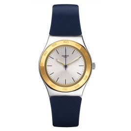 Swatch YLS191 Irony Medium Blue Push Damenuhr