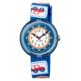 Flik Flak FBNP094 Kinderuhr Camping Badge Blue