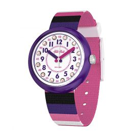 Flik Flak FPNP042 Mädchen-Armbanduhr Stripe Up Your Life