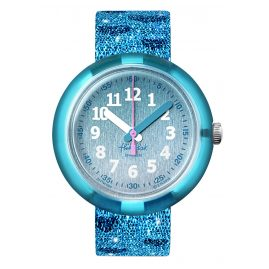 Flik Flak FPNP064 Kids Watch Turquoise Sparkle