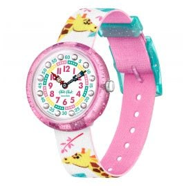 Flik Flak FBNP169 Children's Wristwatch Giraffic Park