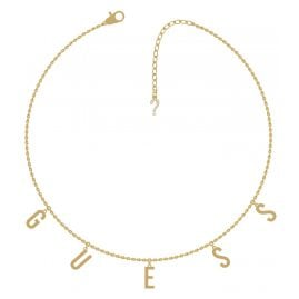 Guess UBN20001 Halskette Los Angeles Edelstahl vergoldet