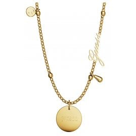 Guess JUBN29102JW Women's Necklace Peony Art Charm Gold Tone