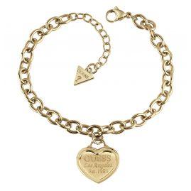 Guess UBB28018-L Damen-Armband Edelstahl vergoldet Follow My Charm