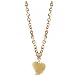 Guess UBN28060 Ladies' Heart Pendant Necklace Gold Plated Love