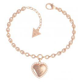 Guess JUBB01077JW-RG Damen-Armband Central Heart Rosé