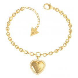 Guess JUBB01077JW-YG Damen-Armband Central Heart Edelstahl vergoldet