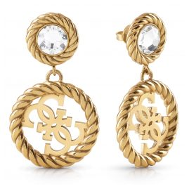 Guess JUBE01008JW-AG Women's Earrings Gold Plated Stainless Steel