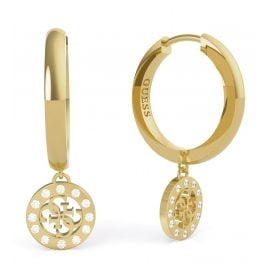 Guess JUBE79043JW Women's Earrings Charms & Crystals Gold Tone