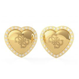 Guess JUBE01073JW-YG Women's Stud Earrings Heart
