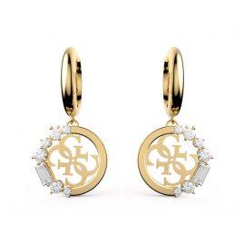 Guess JUBE01111JW-YG Women's Drop Earrings Huggies Gold Tone