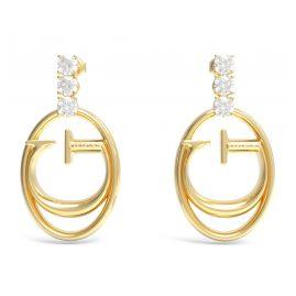 Guess JUBE01039JWYG Women's Earrings Logo Gold-coloured
