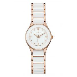 Dugena 4460773 Ladies Wrist Watch Ronda Ceramica
