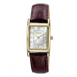 Dugena 7000121-1 Damen-Armbanduhr Quadra Artdeco Goldfarben