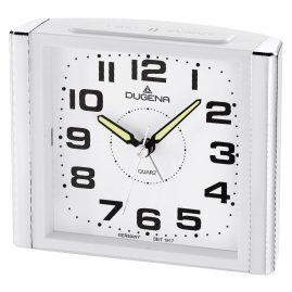 Dugena 4460594 Alarm Clock with Sweep Second Hand and Snooze